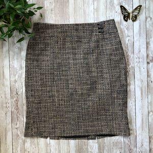 ANN TAYLOR Tweed pencil skirt sz 8